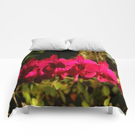 Lovely As An Orchid Comforters