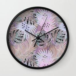 Bright tropics. Wall Clock