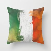 ruben ireland Throw Pillows featuring Ireland by Fresh & Poppy