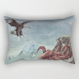 mountain octopussy hunting Rectangular Pillow