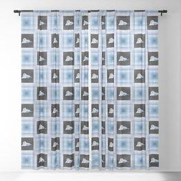 Paint Chip Walrus Sheer Curtain