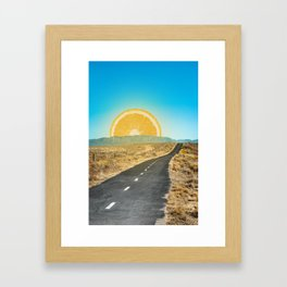 Orange Sunrise Framed Art Print