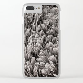 Ostrich Feathers Clear iPhone Case