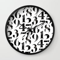 numbers Wall Clocks featuring Numbers by Sibling & Co.