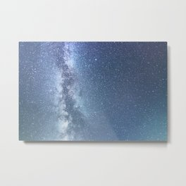 Starry sky with millions of stars, Milky Way galaxy Metal Print