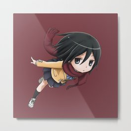 Mikasa Hup Hip Hura Metal Print