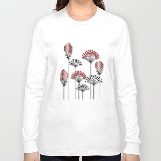 Square Flowers Long Sleeve T-shirt