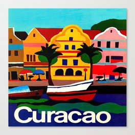 Curacao Vintage Travel Poster Canvas Print