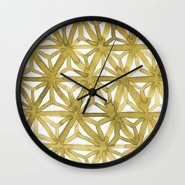 Gold Asanoha Wall Clock