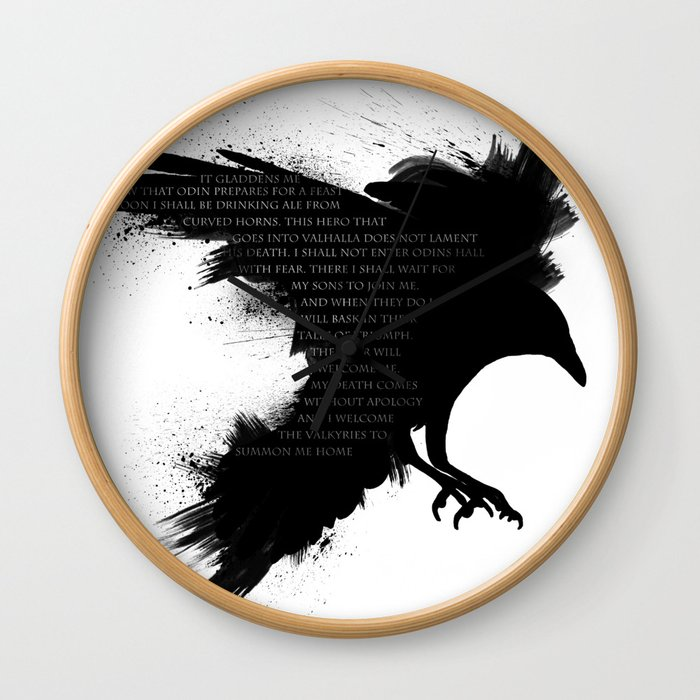 I Welcome The Valkyries Wall Clock