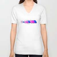 bisexual V-neck T-shirts featuring Bisexual, Not Mythical by reallydorky