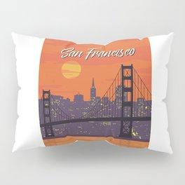 San Francisco vintage poster travel Pillow Sham