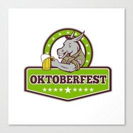 Donkey Beer Drinker Oktoberfest Retro Canvas Print