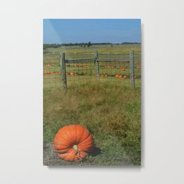 Leaving the Patch Metal Print