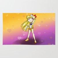 sailor venus Area & Throw Rugs featuring Sailor Venus by Thedustyphoenix