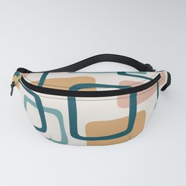 Mid Century Modern Abstract Squares Pattern 444 Fanny Pack