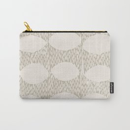 Arches Block Print in Cream Carry-All Pouch