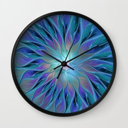 Decorative Flower Fractal Wall Clock