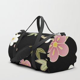Sumi Print - White & Pink Cherry Blossoms Duffle Bag