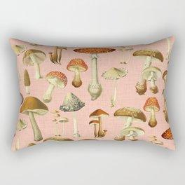 Mushrooms pink Rectangular Pillow