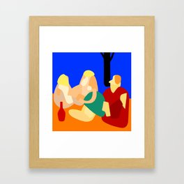 Picnic in the park: abstract Framed Art Print