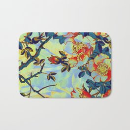 under the apple tree Bath Mat