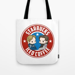 Starbucks - Steve Rogers and Bucky Barnes Iced Coffee  Tote Bag