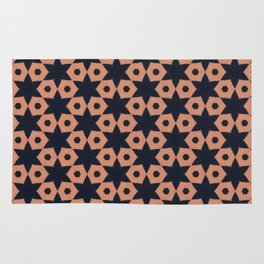 corail and black fabric Rug