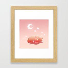 Hisi is sleeping Framed Art Print