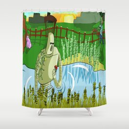 Priorities  Shower Curtain