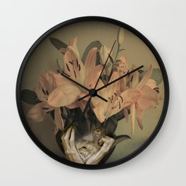 The face of fowers Wall Clock