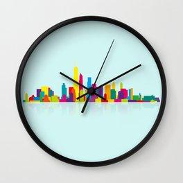 New WTC Skyline Wall Clock