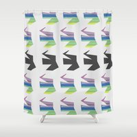 elephants Shower Curtains featuring Elephants by Elle Major