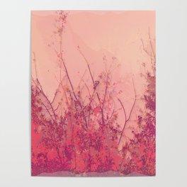 Lost in Pink (Carmine Pink Botanic Garden) Poster