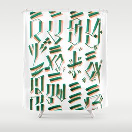 MIND & SOUL Calligraphy  Shower Curtain