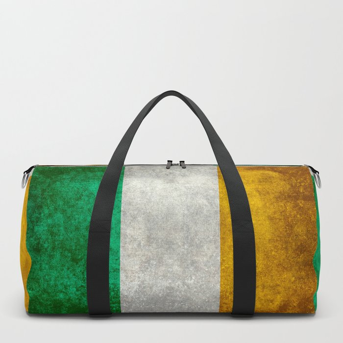 Flag of the Republic of Ireland, Vintage style Duffle Bag