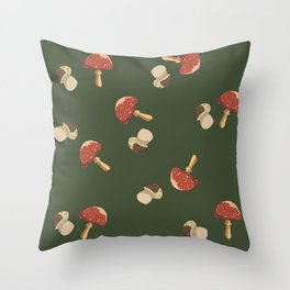 little Mushroom Throw Pillow