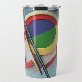 Constructivism & Suprematism in the style of Ivan Kliun (1 of 9) Travel Mug