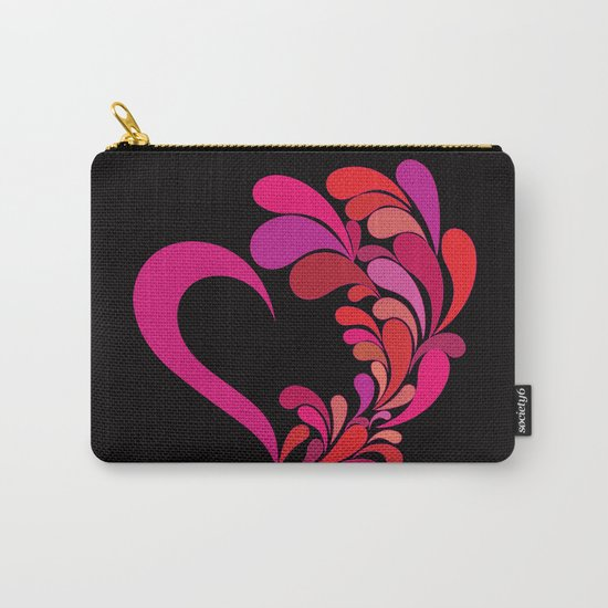 Colored heart Carry-All Pouch