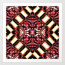Curitiba (Zebra Batik) Art Print