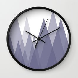 Purple Mountains Abstract Landscape Wall Clock