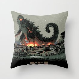 Godzilla - Gray Edition Throw Pillow