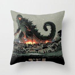 Godzilla - Gray Edition Throw Pillow