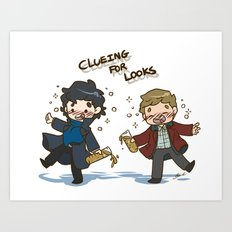 BBC Sherlock - Clueing for Looks Art Print