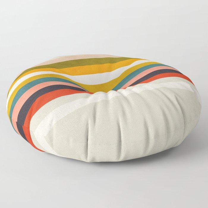 modern abstract stripe geometric Floor Pillow