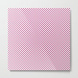 Raspberry Rose Polka Dots Metal Print