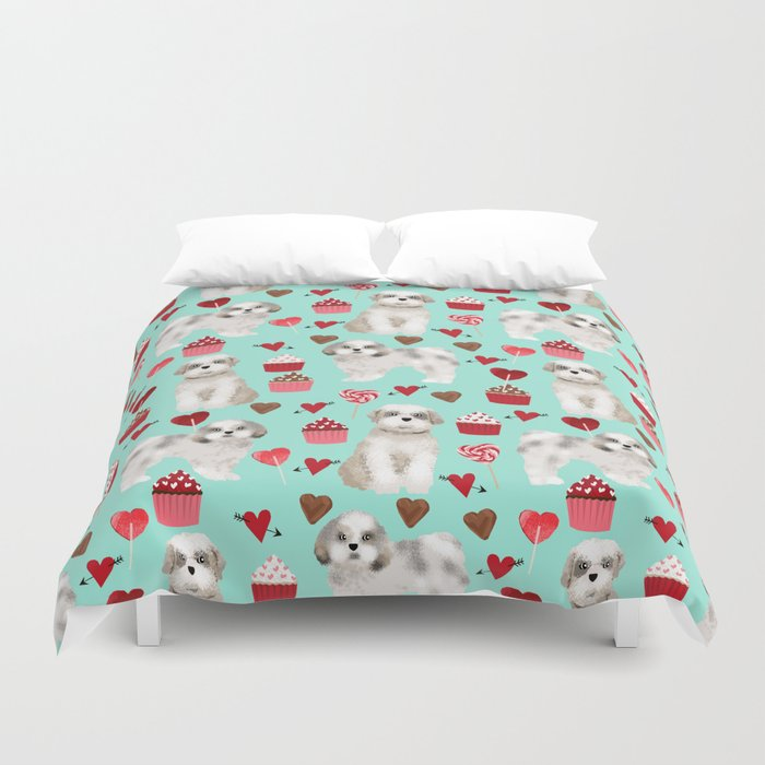 Shih Tzu Valentines Day Pattern For Dog Lover With Cute Puppy Love By Pet