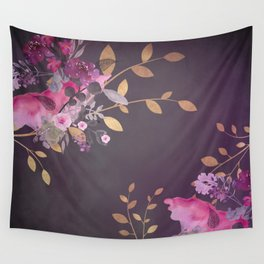 FLOWERS & GOLD  Wall Tapestry