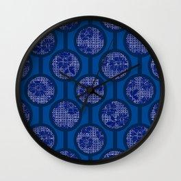 Retro-Delight - Simple Circles (Laced) - Indigo Wall Clock