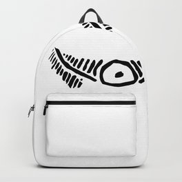 Taino eye graphic design in black and white Backpack